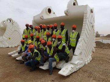 Trainees, Kinross Gold, Tasiast Mine, Mauritania