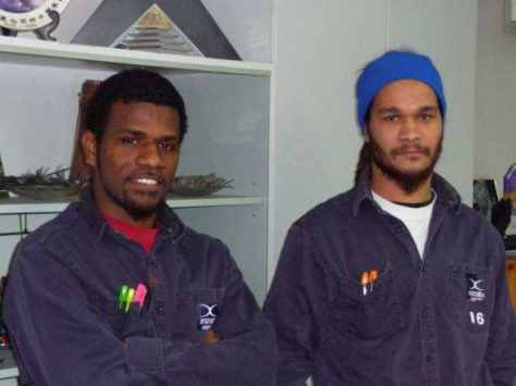 Trainees from Xstrata New Caledonia at the Horne smelter, in Rouyn-Noranda, Canada