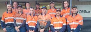 The Boart Longyear crew on site