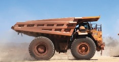 Driving Beeshoek's production programme is a predominately Cat earthmoving fl eet, with haulage tasks provided by Cat 777D and 789D off - highway trucks, with their respective nominal payloads of 90.4 and 181 t