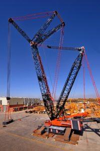 Johnson Crane Hire's 750 t lattice boom crawler crane