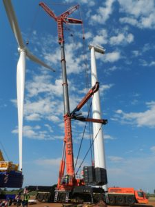 Some of the most technically challenging lifts being undertaken by Johnson Crane Hire at present are for the wind-energy sector