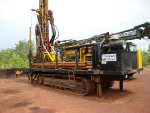 Drill on site at Hummingbird Resources' Yanfolila gold project in Mali