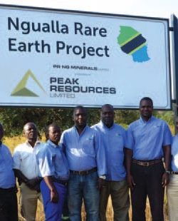 Peak Resources' field team, 2014 field season
