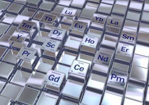 Rare earth metals, conceptual image