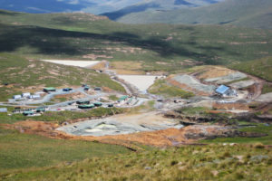 Aerial view of Mothae project site which Lucara Diamonds Corp. will sell to Paragon