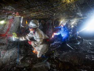 Women working underground at Dishaba. Photograph courtesy of Anglo American Platinum