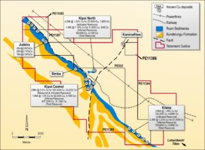 The Kipoi copper project is located 75km northwest of Lubumbashi, in the DRC