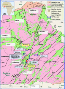 West African Resources holds a 90% interest in the Tanlouka permit, which hosts the company's Mankarga 5 mineral resource