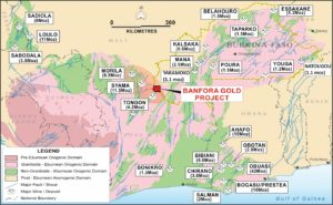 The Banfora gold project is located in the south-west of Burkina Faso, West Africa, in a major gold producing district,