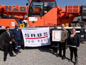 The recent ISO 9001 accreditation of Johnson Crane Hire underpins the company's commitment to its SHEQ policies