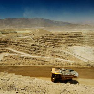 A truck hauls ore at the Glencore Lomas Bayas open pit mine in Chile