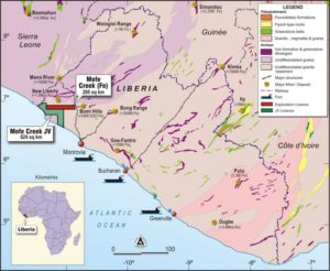 The Mofe Creek project located in Liberia is an itaberite deposit