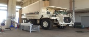The rugged and simplistic design of the Terex truck is perfectly suited for the harsh African conditions