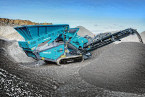 Mobile crushing and screening equipment manufacturer Powerscreen's crusher and screen in combination
