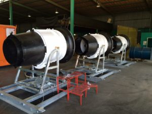 The I-VAP 500 units in progress at MechCaL's manufacturing facility in Pretoria