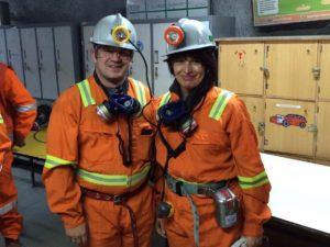 Doris Leuthard and German Fischer underground at El Tiente