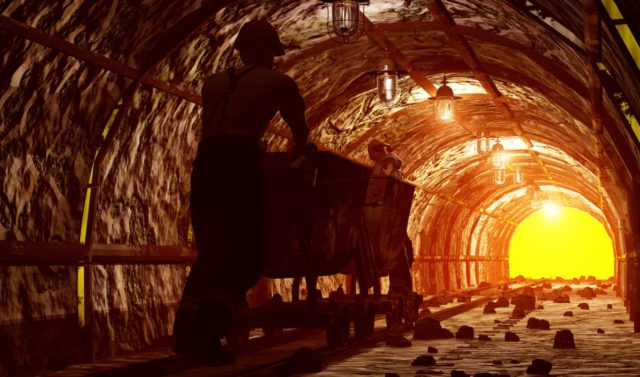 Mining in tunnel
