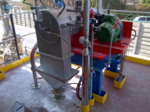 A Conturbex centrifuge dewatering glaubersalt product produced in a ZLD plant operation