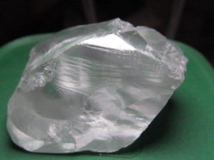 The 138.57 carat white diamond recovered at the Cullinan mine