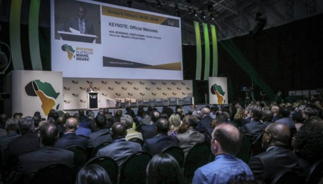An audience engaged at Mining Indaba