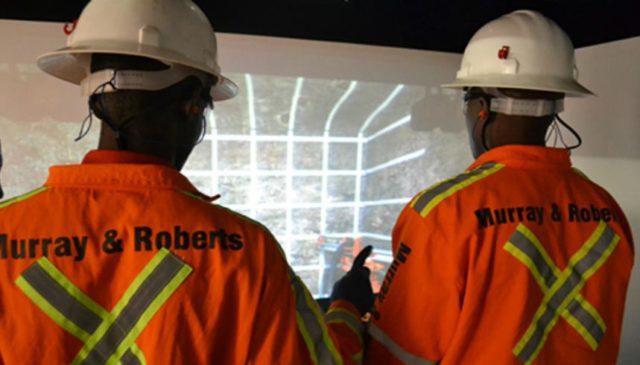 Murray & Roberts Cementation , simulation, drilling, drill rig, underground mining