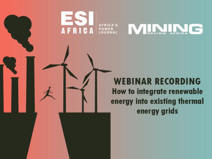 Energy webinar integration of renewable energy