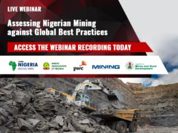Nigeria Mining Week global best practices webinar recording banner