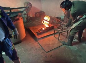 First gold pour at the kilimapesa gold project in Kenya
