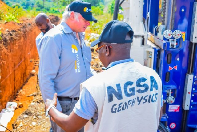 NGSA team and AG Vision competent person during a site visit in Zamfara State - NIgeria Mining Week