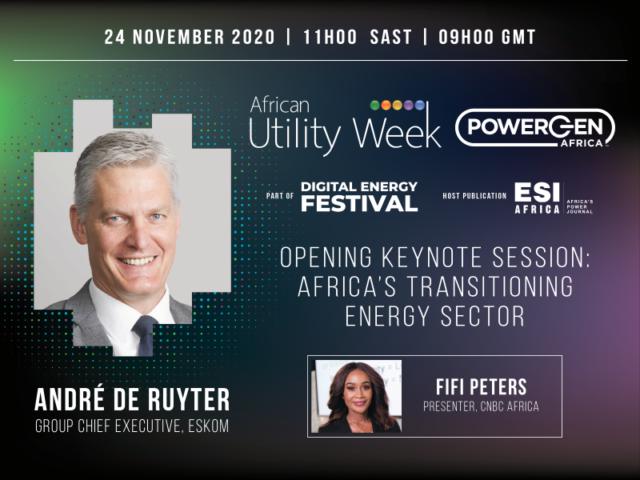 Eskom CEO at Digital African Utility Week